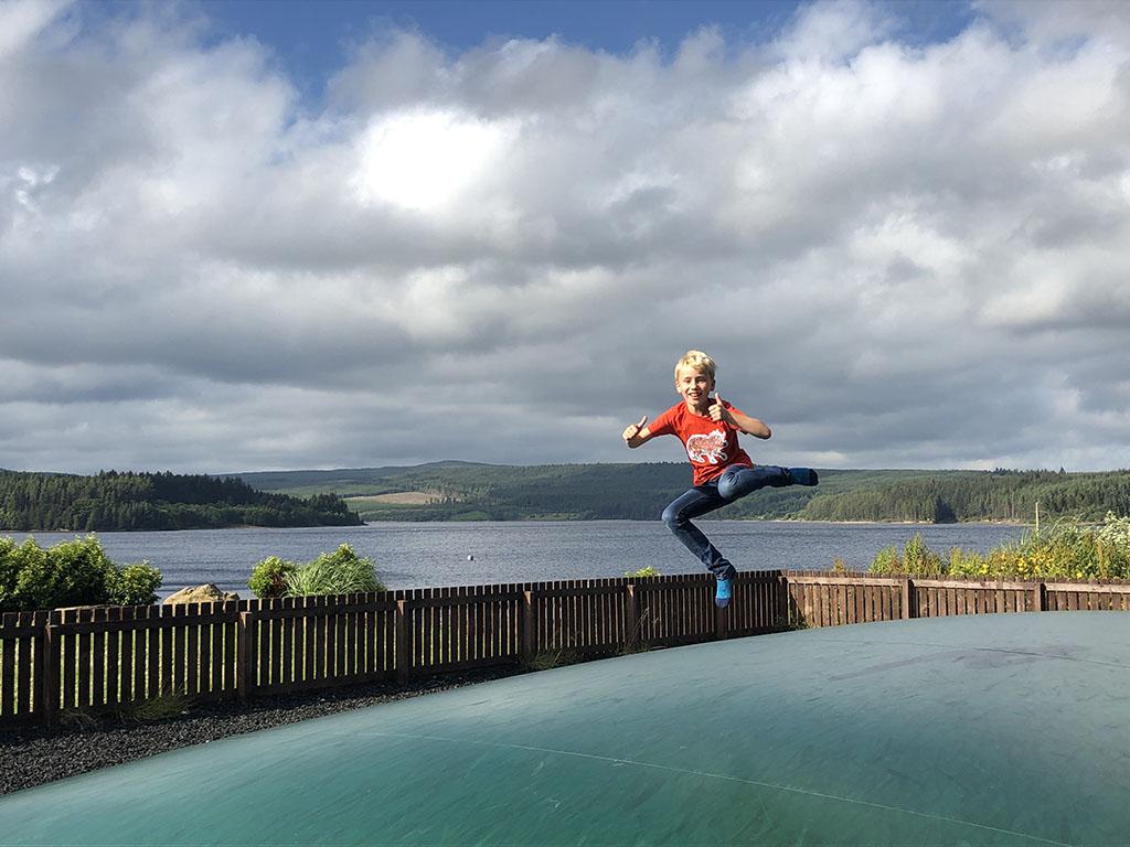 Springen met een fantastisch uitzicht!