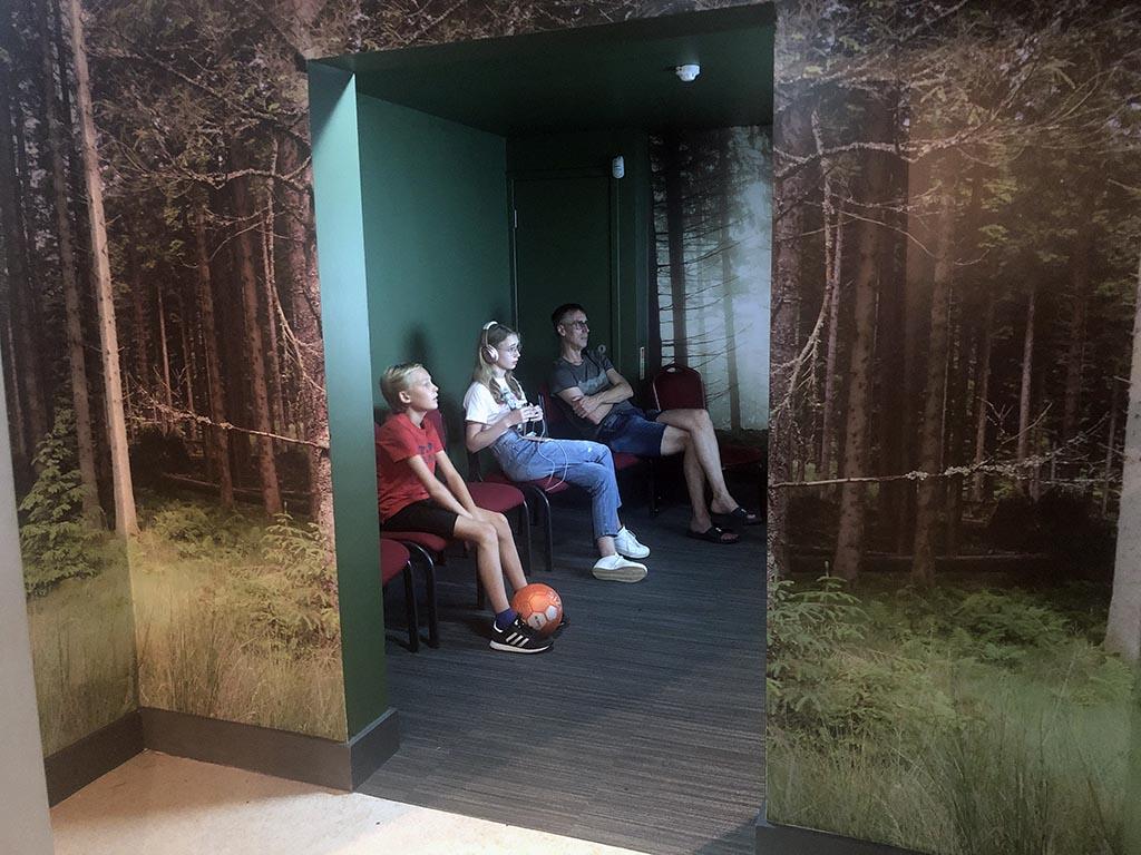 In het bezoekerscentrum leren we over de dieren en natuur van het Kielder nationale park.
