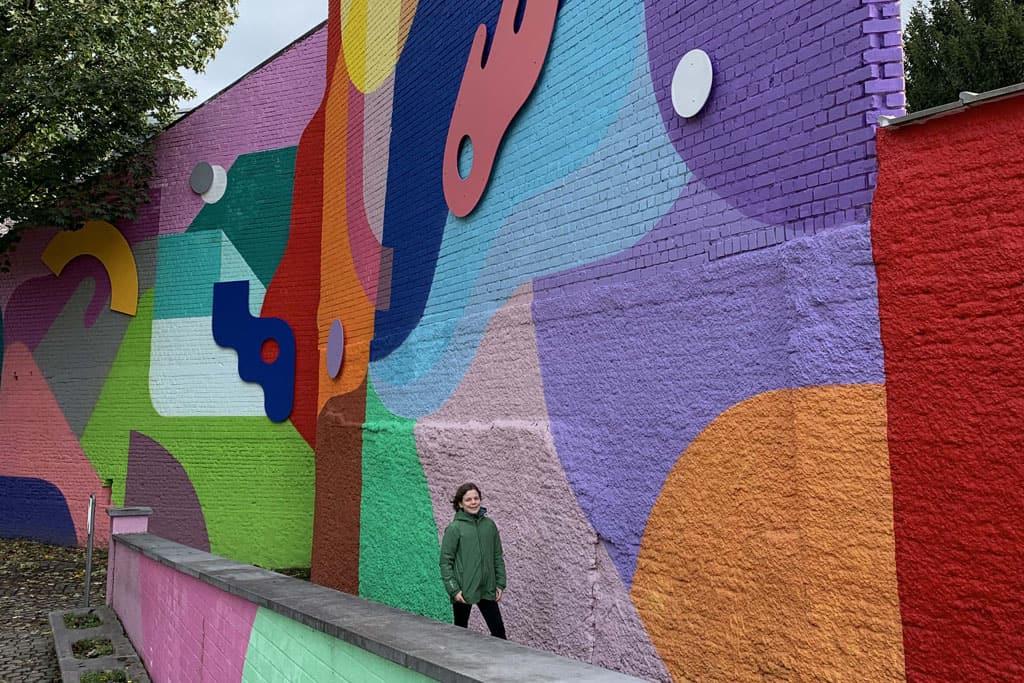 Kleur in Mons met kinderen Bergen België