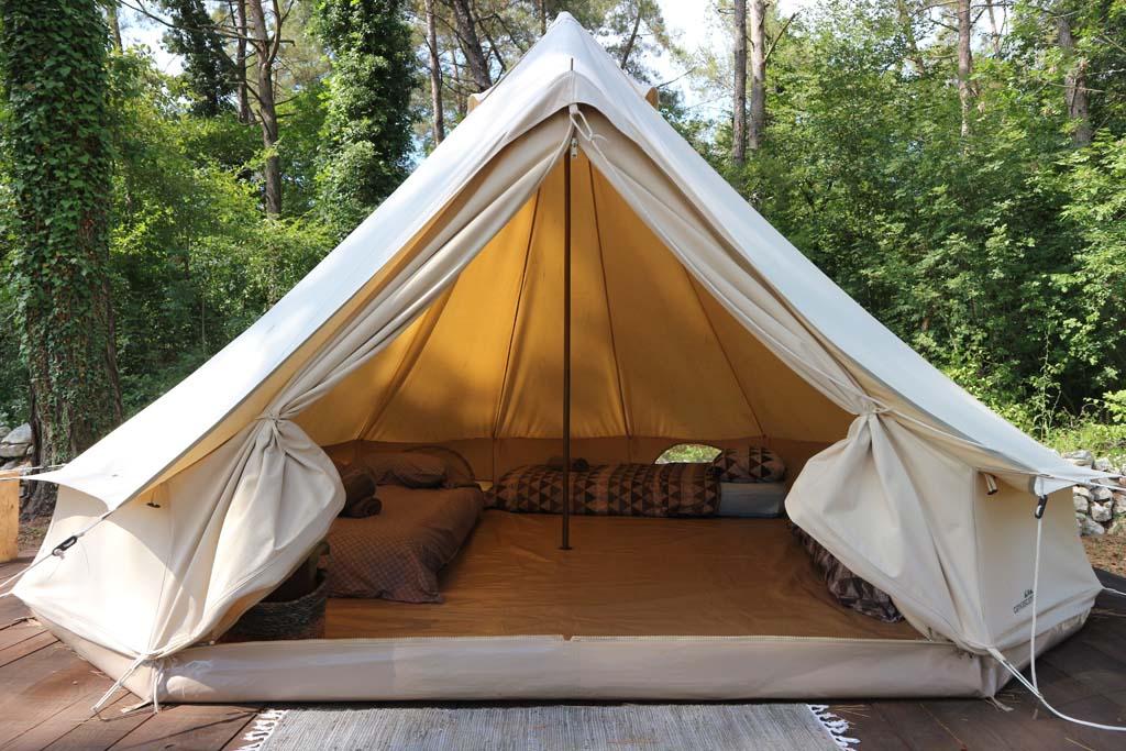 Onze tent.