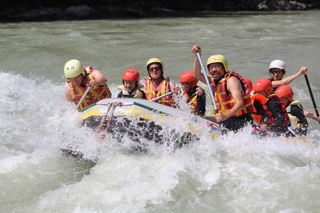 Adventurepark Osttirol raften op de Isel