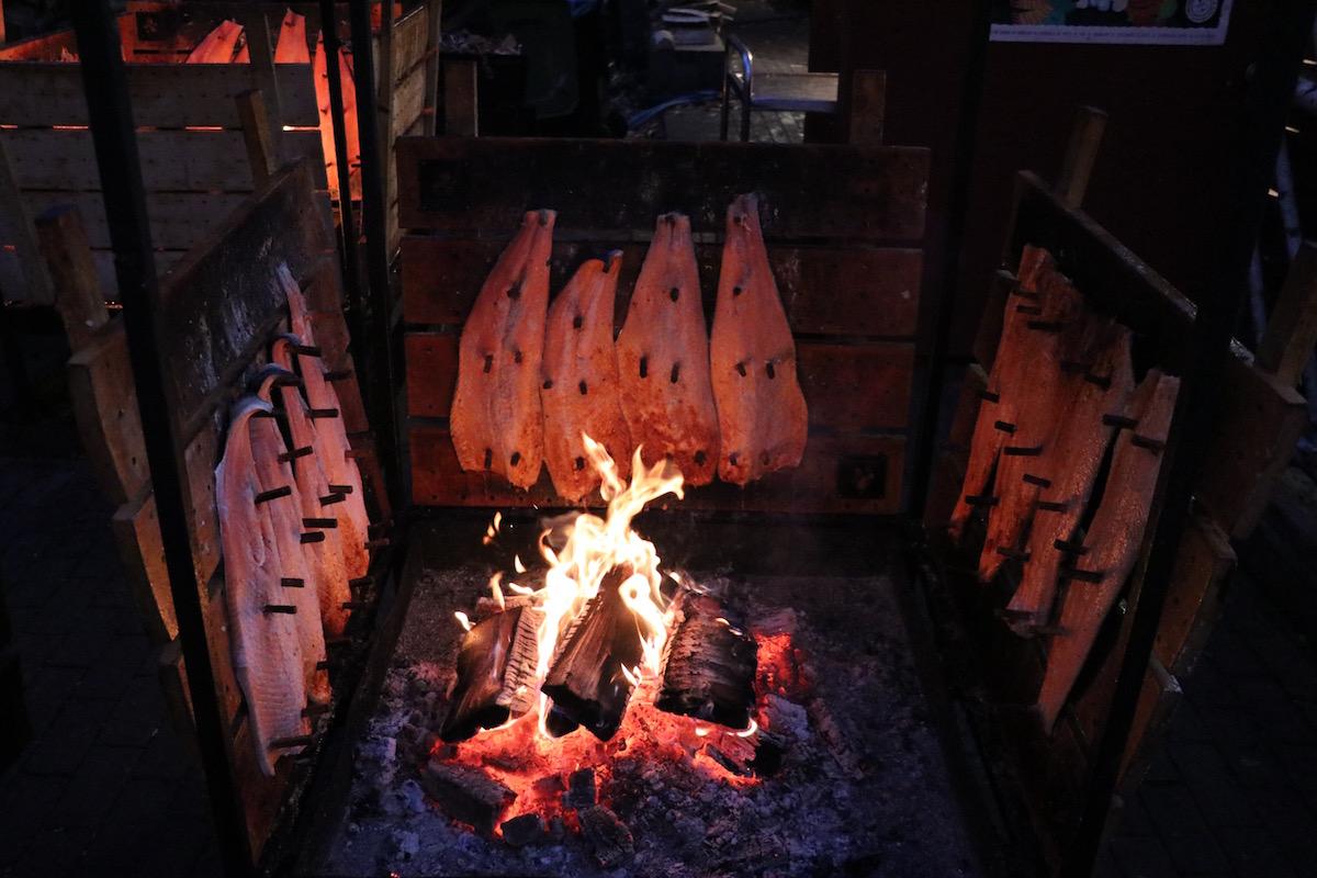 zalm in het Finse kerstdorp