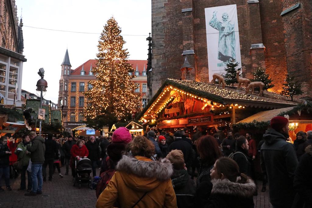 Kerstmarkt in de oude stad