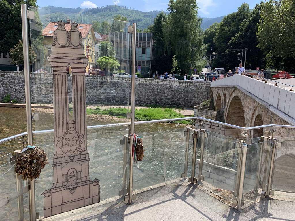 De beroemde brug waar de Eerste Wereldoorlog begon.