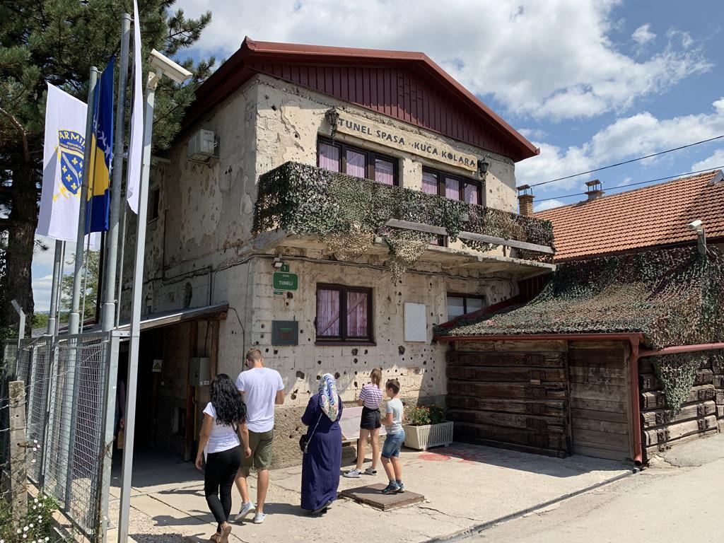 Het Tunnelmuseum is gevestigd in het huis waaronder de tunnel is gegraven.