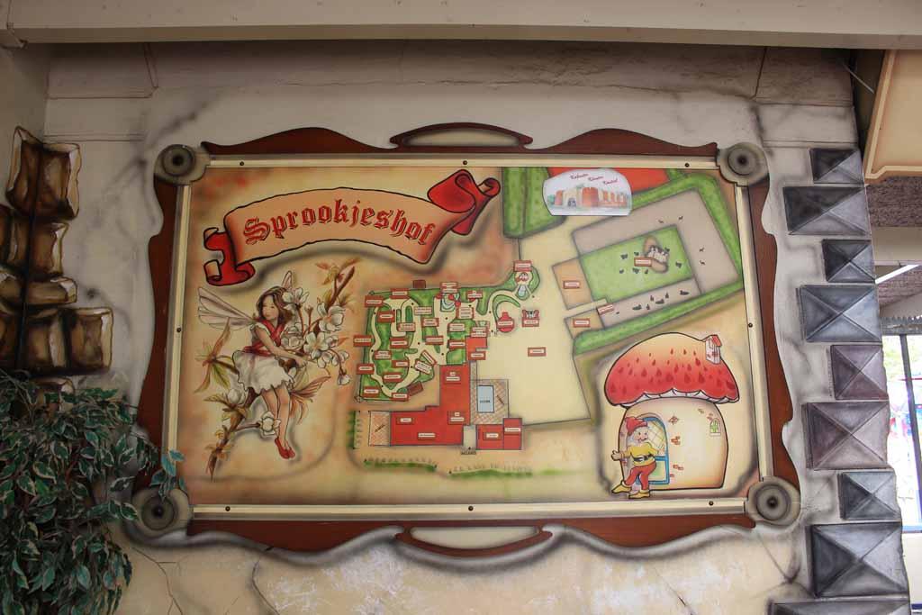 De plattegrond van het speelpark