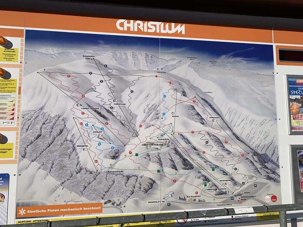 Het skigebied in Aldenkirch.