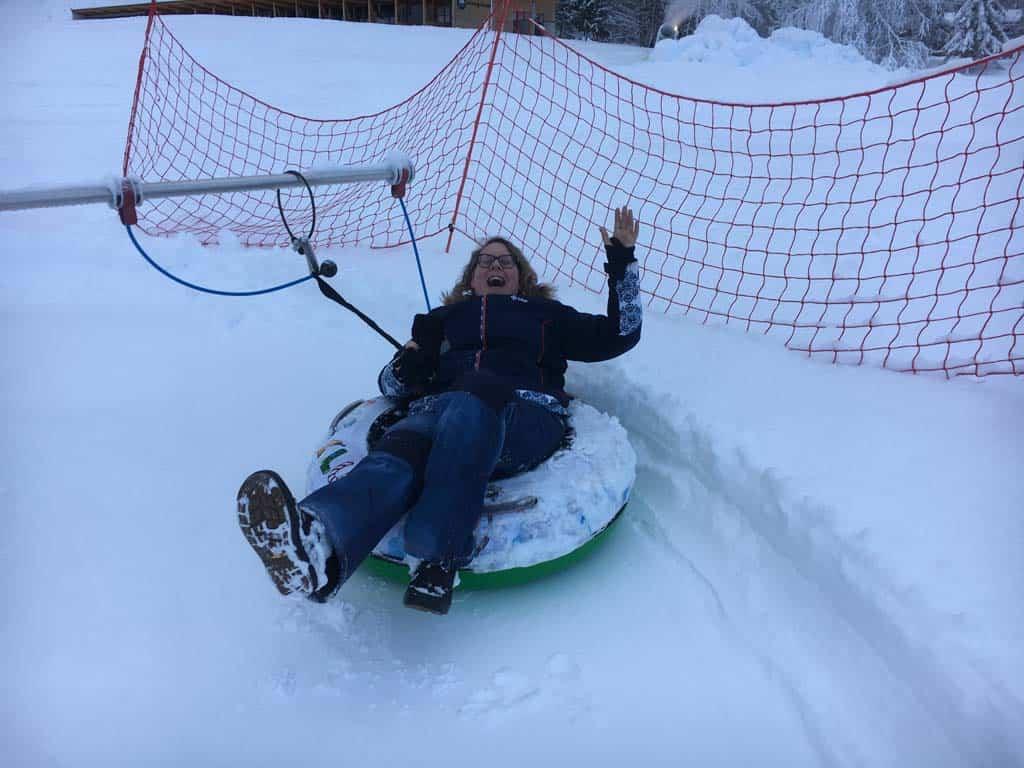 Van de Nederlandse skileraar mochten wij ook een paar rondjes.