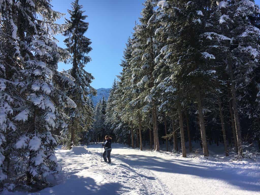 Wat een schitterend gebied om te wandelen. Zeker met al die sneeuw.
