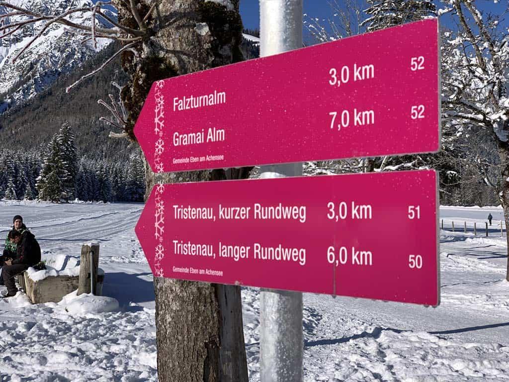 Vanuit het dal achter Pertisau zijn meerdere wandelingen te maken.