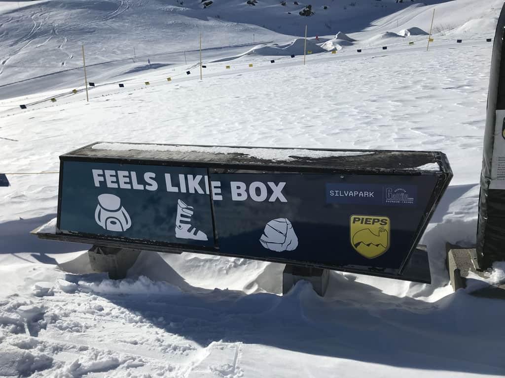 De 'Feels like box' wordt gebruikt voor lawine trainingen.