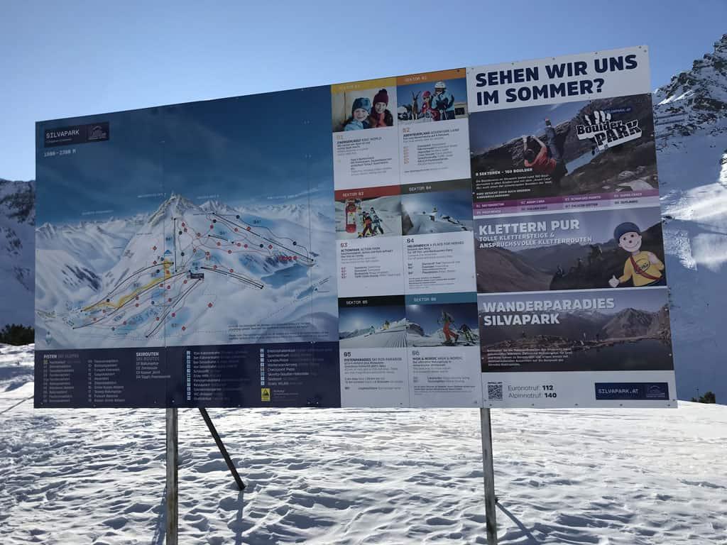 Het skigebied van Galtür is opgedeeld in 6 sectoren.
