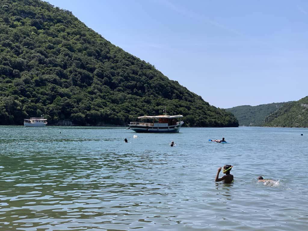 Het Limskifjord in Istrië.