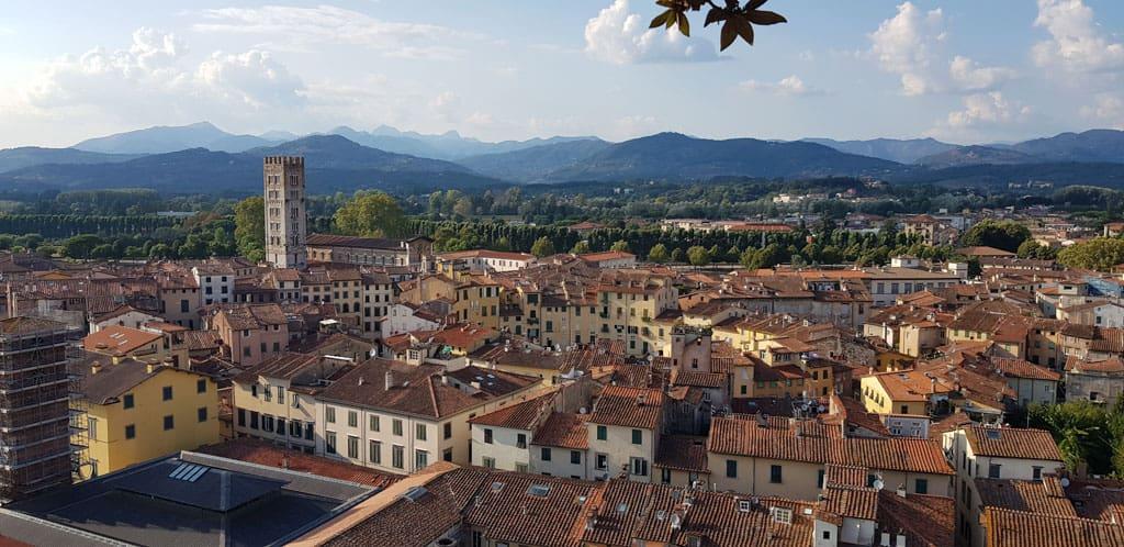 Lucca, een van de hoogtepunten van Italië (foto: Suzanne).