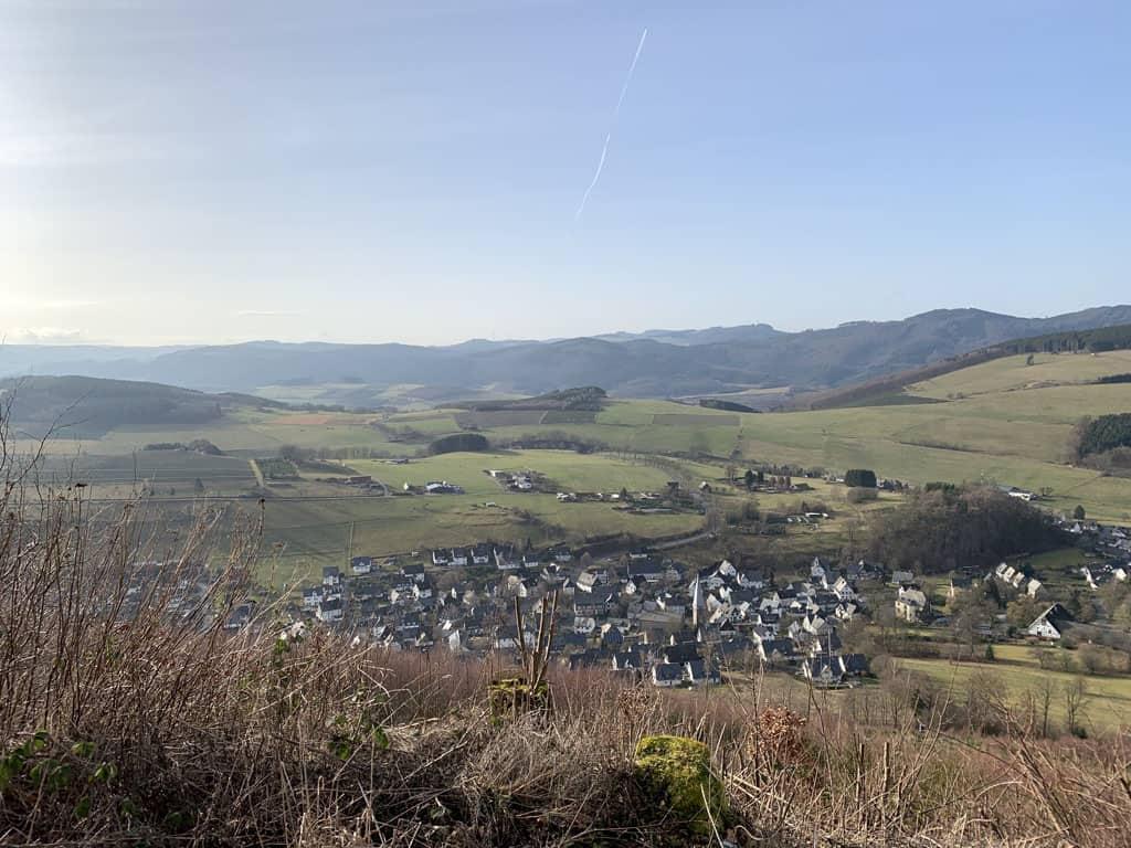 Uitzicht op het Sauerland