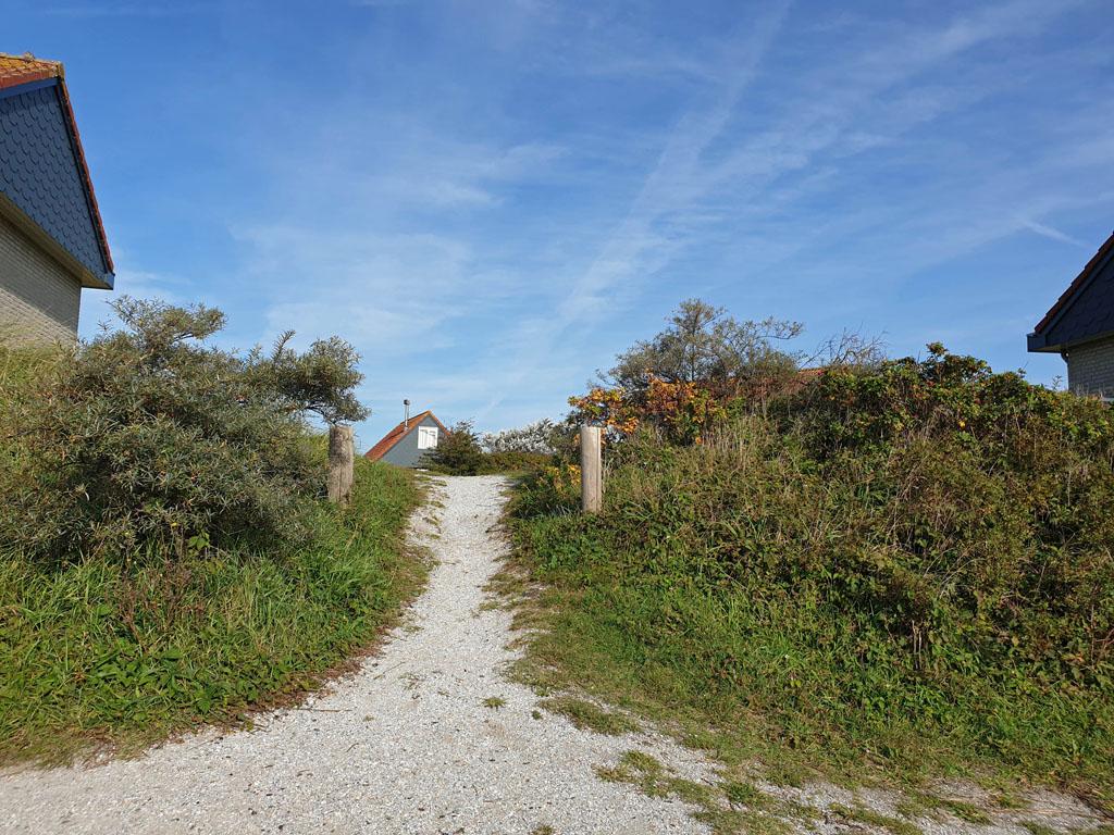 De huisjes liggen verspreid door de duinen over het park landal-sluftervallei-texel-24