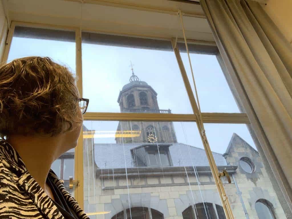 Laatste keer dit uitzicht in het oude kantoor.... zal dat geklingel een uur lang op vrijdag niet gaan missen!