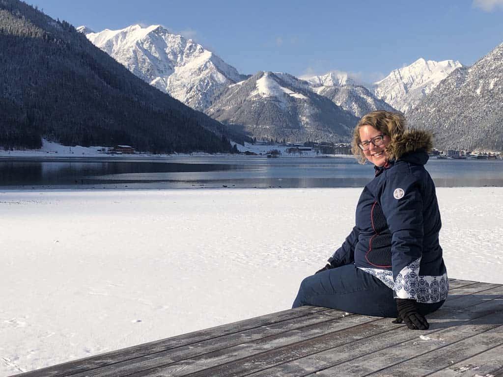Dit. Zo mooi. Ik hou van de bergen en ik hou van deze witte wereld.