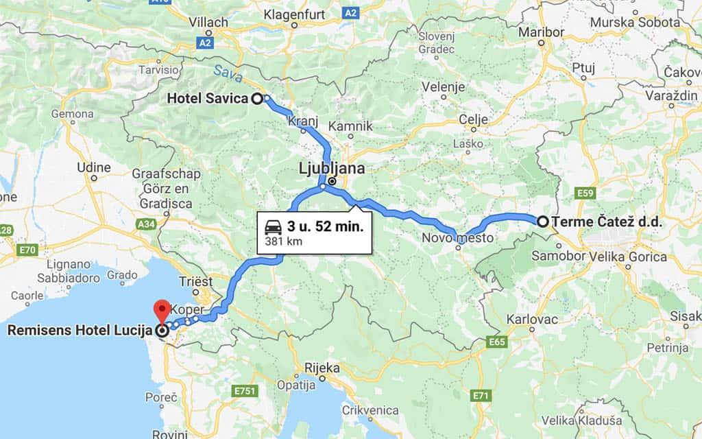 Route rondreis Slovenië