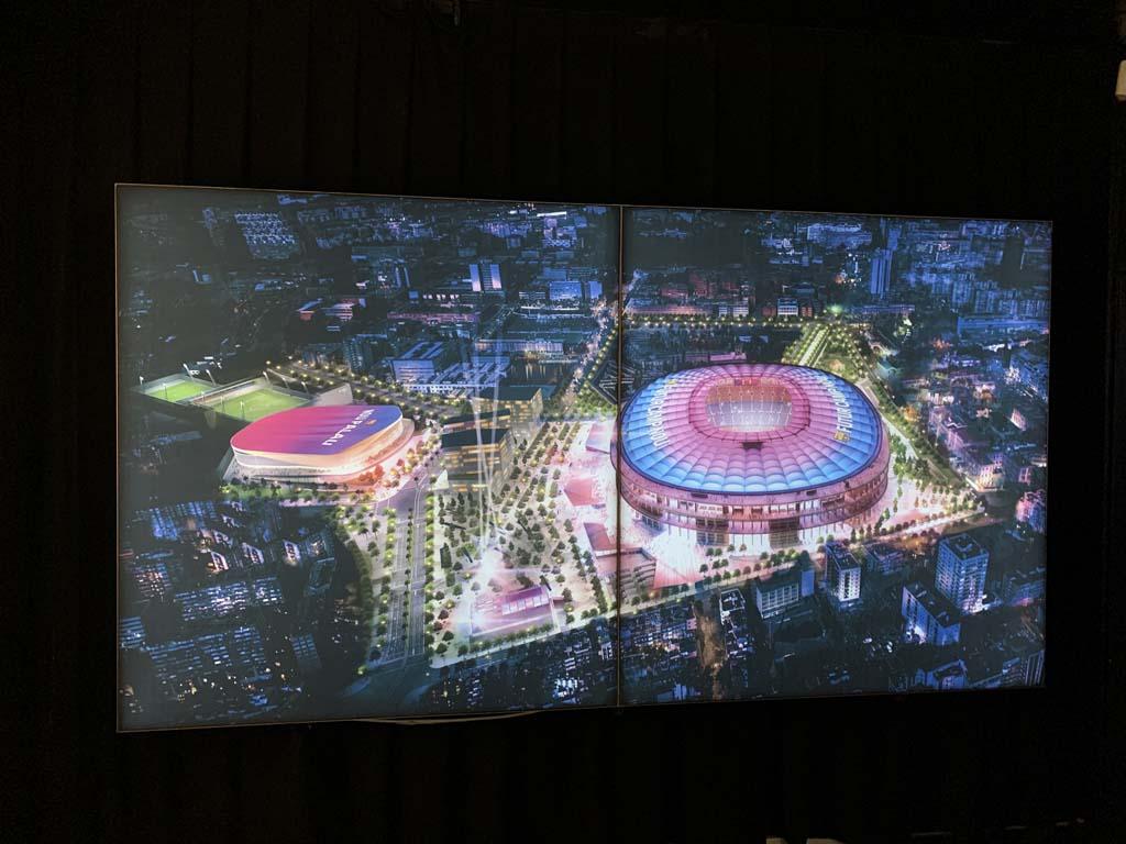 Een kijkje in de toekomst, zo gaat Camp Nou er na de verbouwing uitzien.