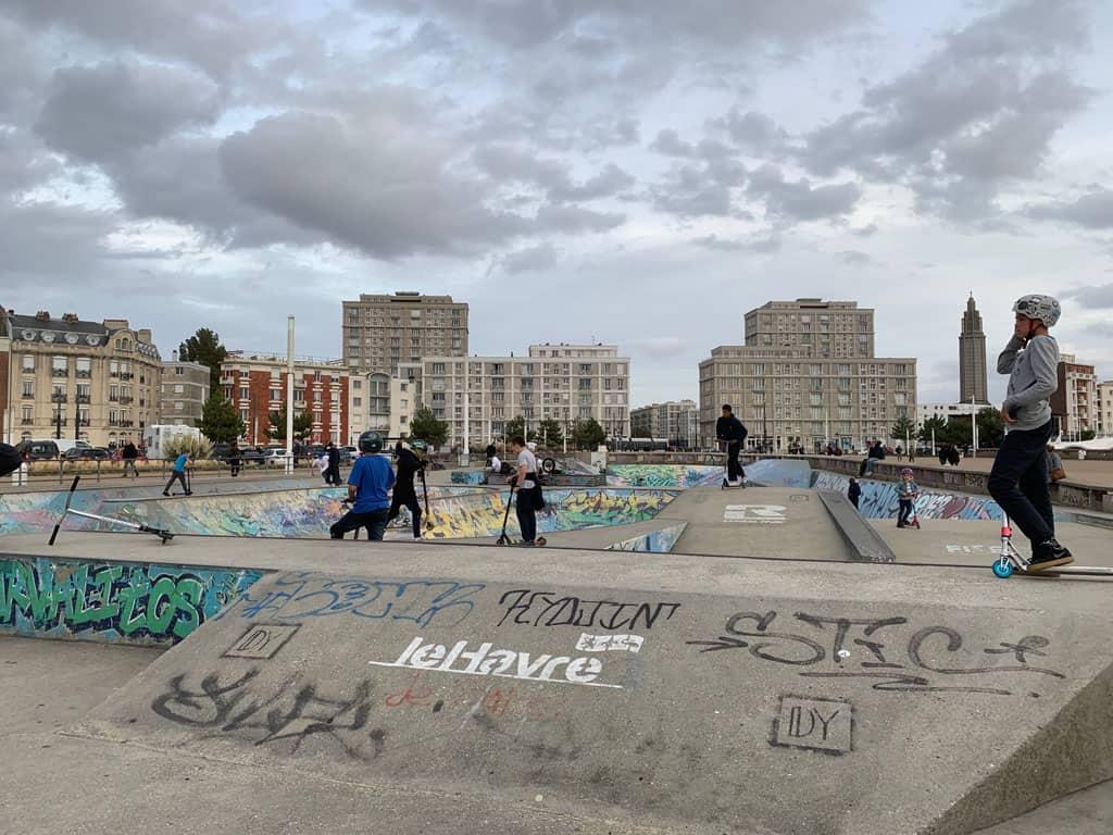 Skaten in Le Havre