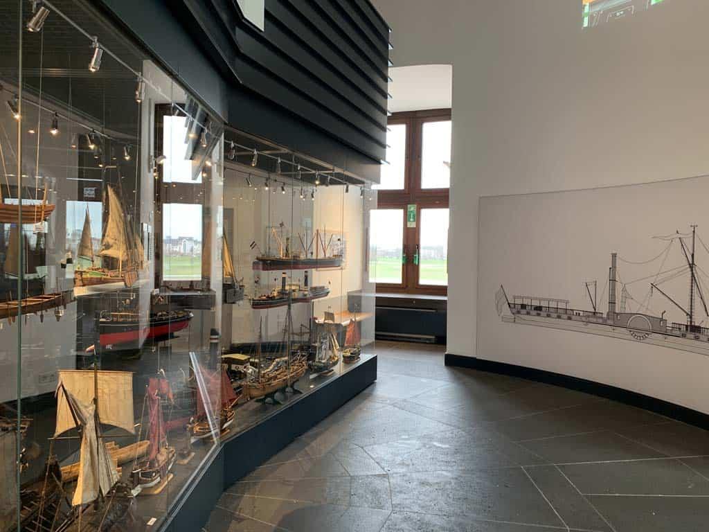 Een deel van de tentoonstelling is statisch.