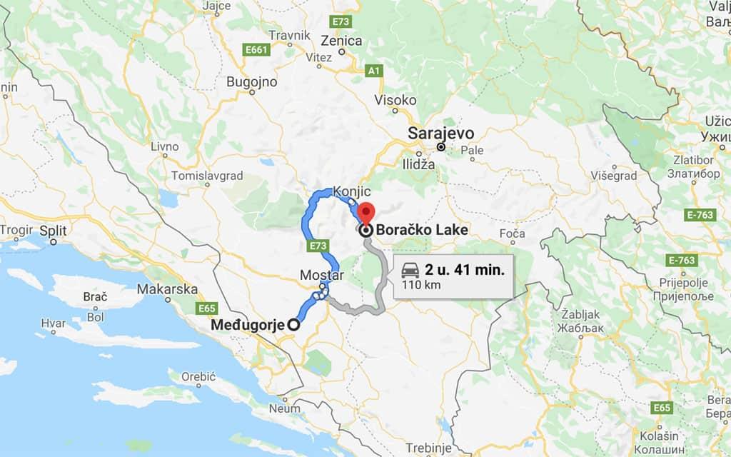 Na Medugorje rijden we naar Herzegovina Lodges ten zuiden van Konjic.