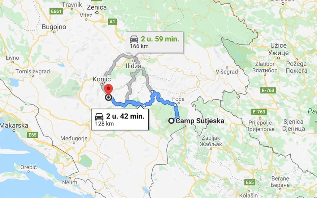 Na Herzegovina Lodges rijden we verder zuidelijk naar Sutjeska Nationaal Park.