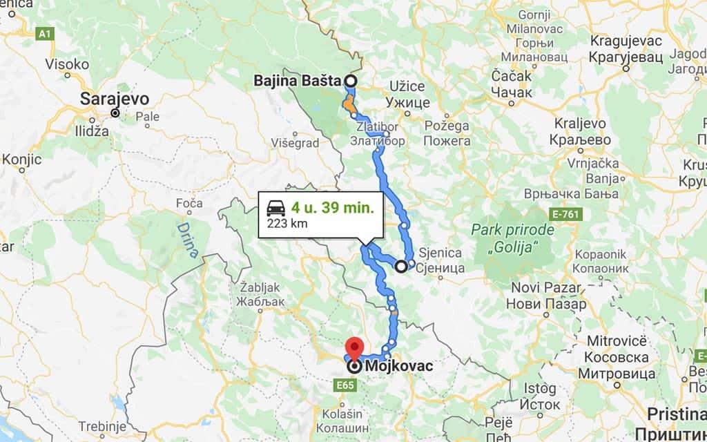 De route van onze rondreis door de Balkan gaat nu verder naar Servië.