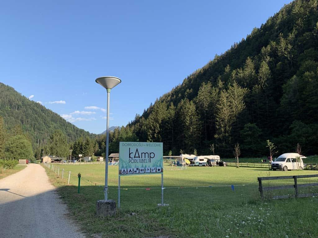 Camp Podljubelj is een kleine camping in Slovenië.