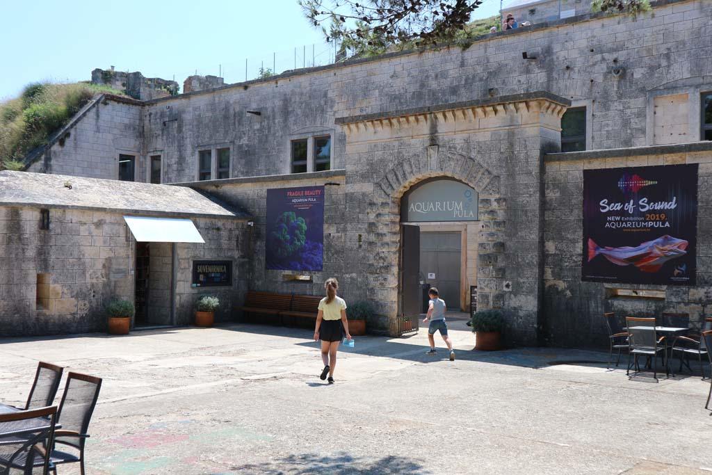 Het aquarium van Pula is te vinden in een oud fort.