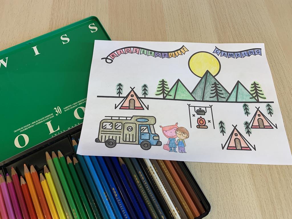 De KidsErOpUit kleurplaat.