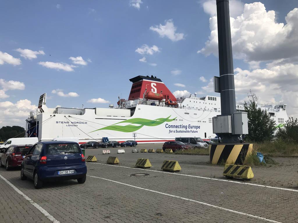 Goede herinneringen aan de overtochten met Stena Line, zoals hier op weg naar Letland.