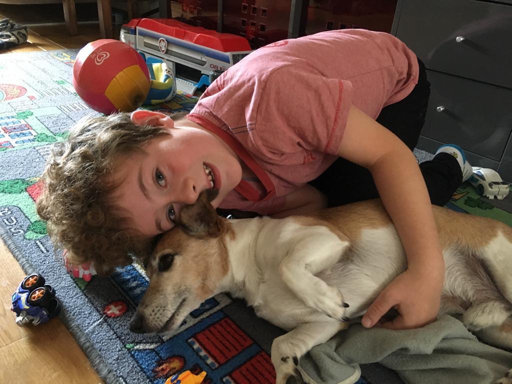 Froukjes zoon en de hond zijn dikke vrienden. Op vakantie wordt de hond dus flink gemist en dat zorgt voor heimwee.