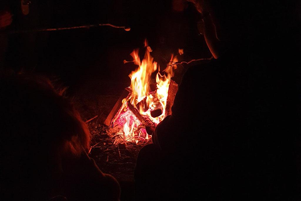 Kijk het vuur branden