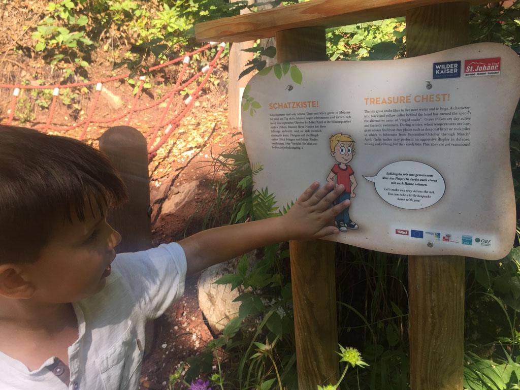 In Tirol zijn speciale kinderwandelingen die vaak ook buggy-proof zijn
