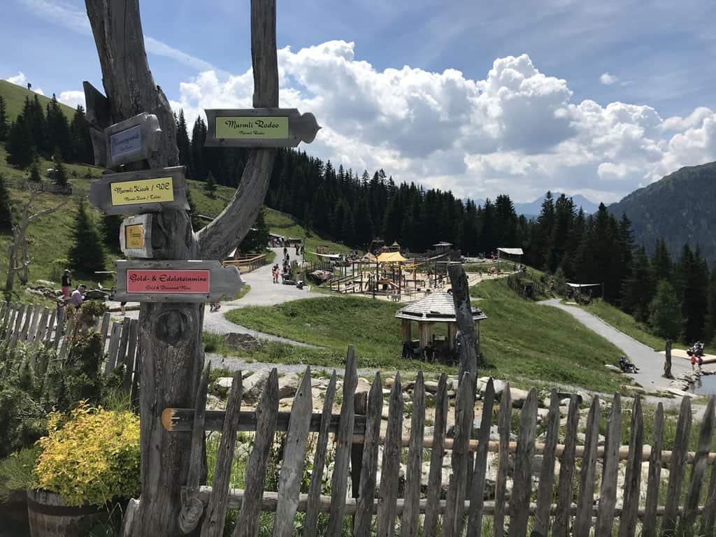 In Serfaus is er ook volop speelplezier in de bergen