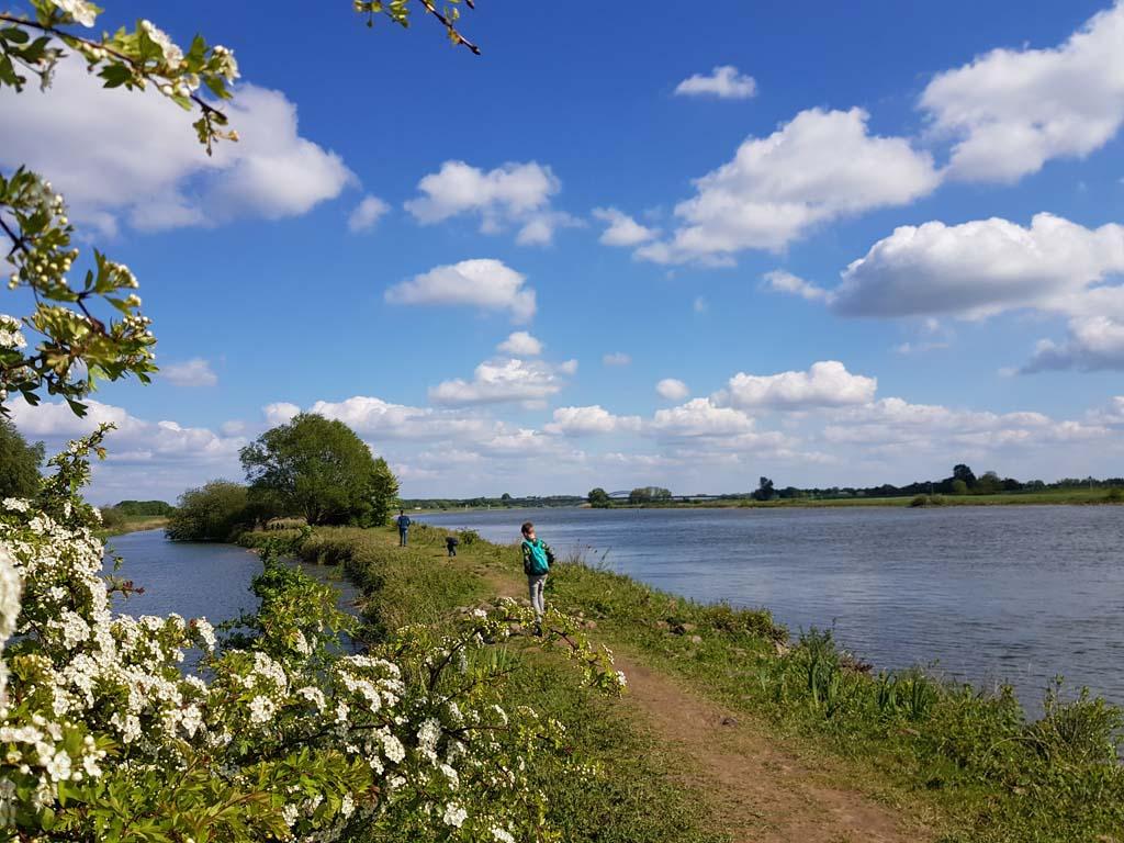 wandeling langs de IJssel