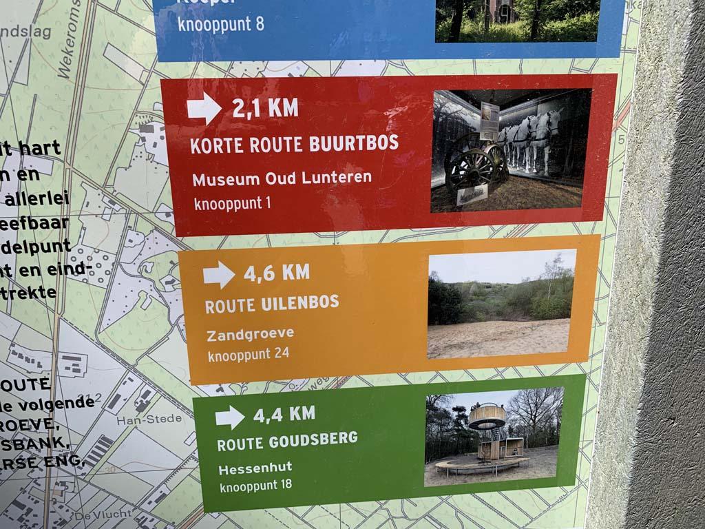 Wij kiezen de groene route naar de Goudsberg.
