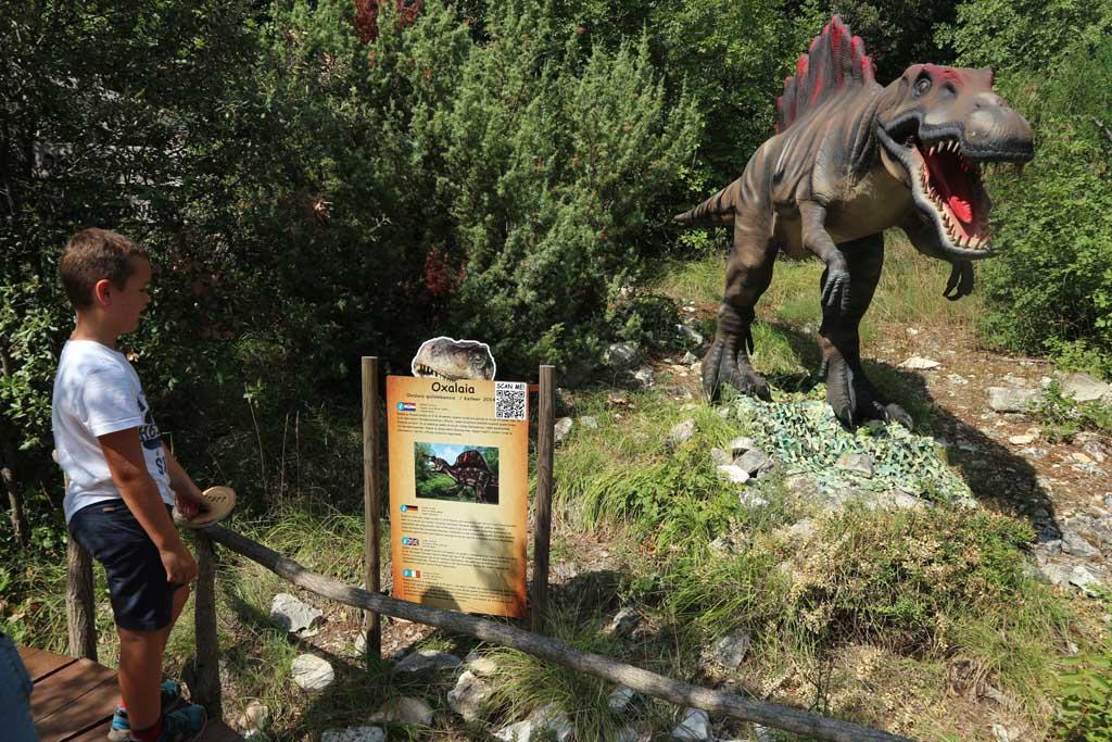Het Dinopark is een van de vele kinderattracties in Istrië.
