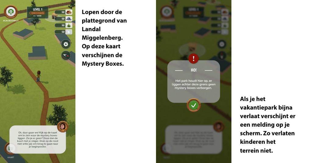 Met de Landal Adventure app lopen we echt en virtueel door het vakantiepark.