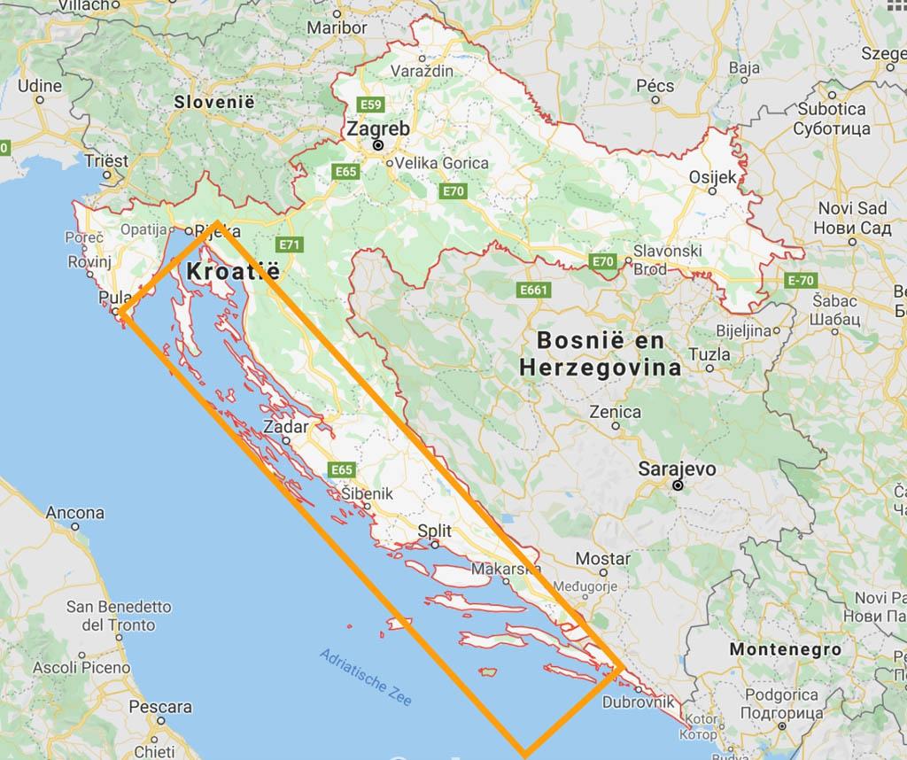 Kroatië heeft heel veel eilanden.