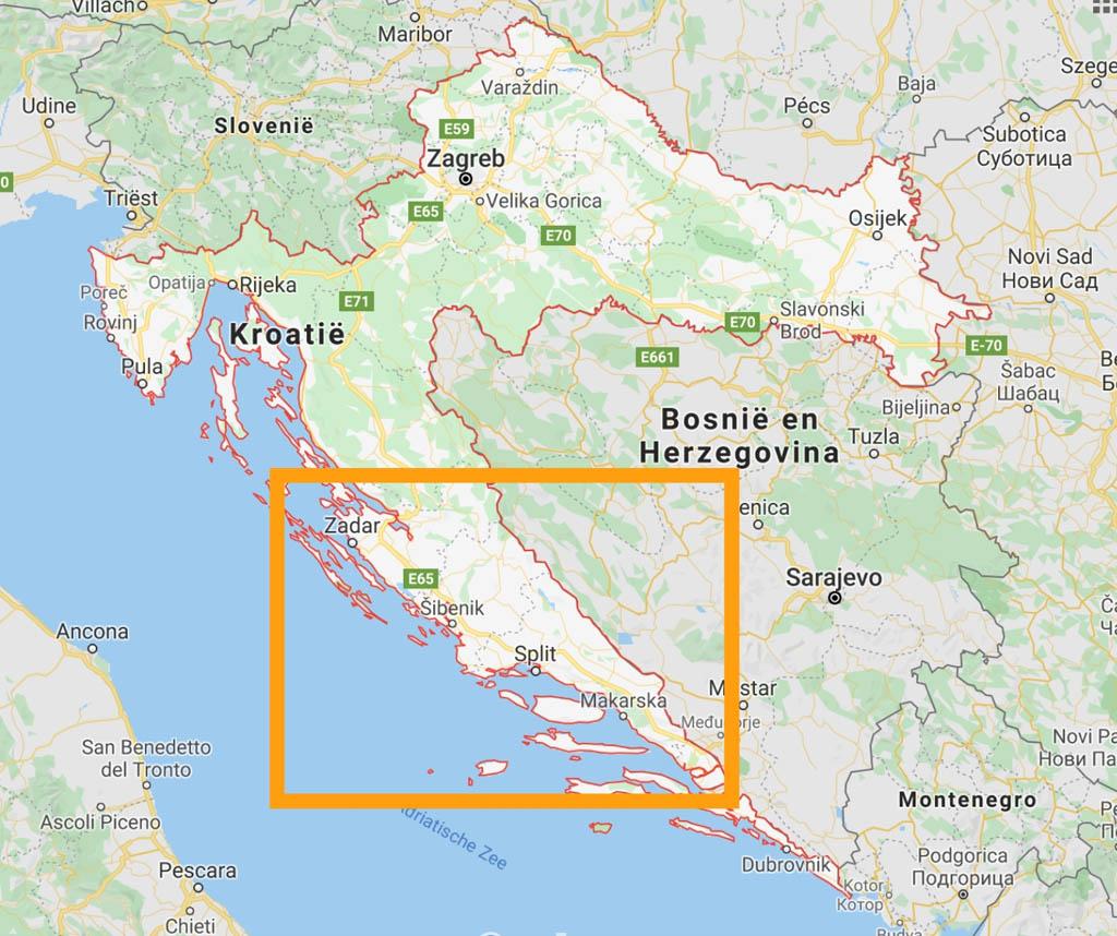 Wil je zuidelijker rijden voor een zomervakantie in Kroatië met kinderen? Kies dan voor Dalmatië met bekende steden als Zadar, Sibenik en Split.