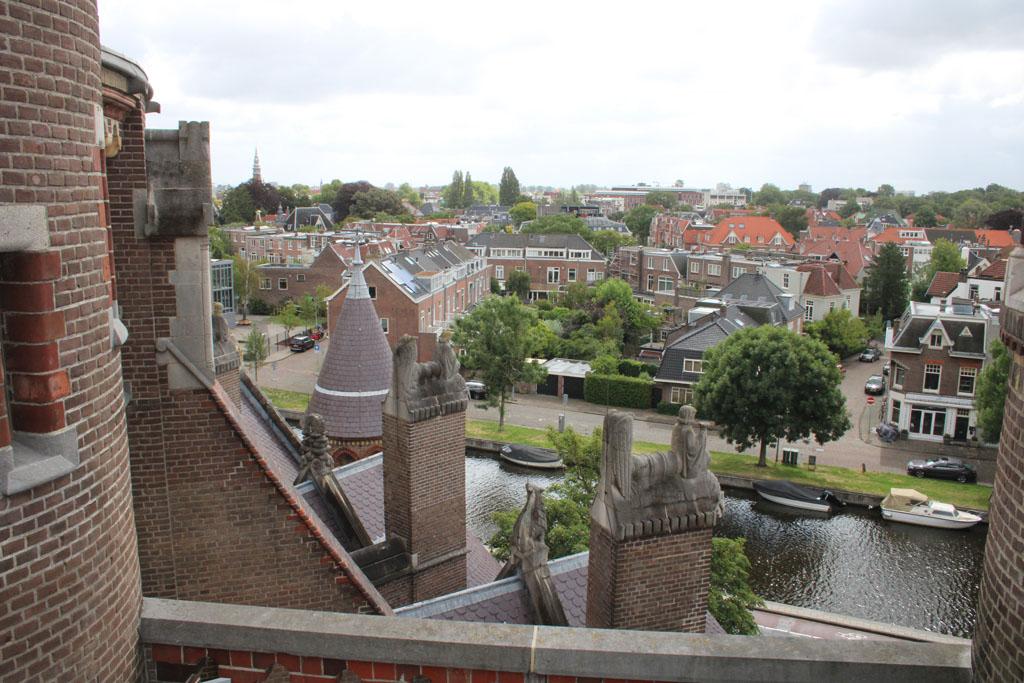 Machtig mooi uitzicht over Haarlem.