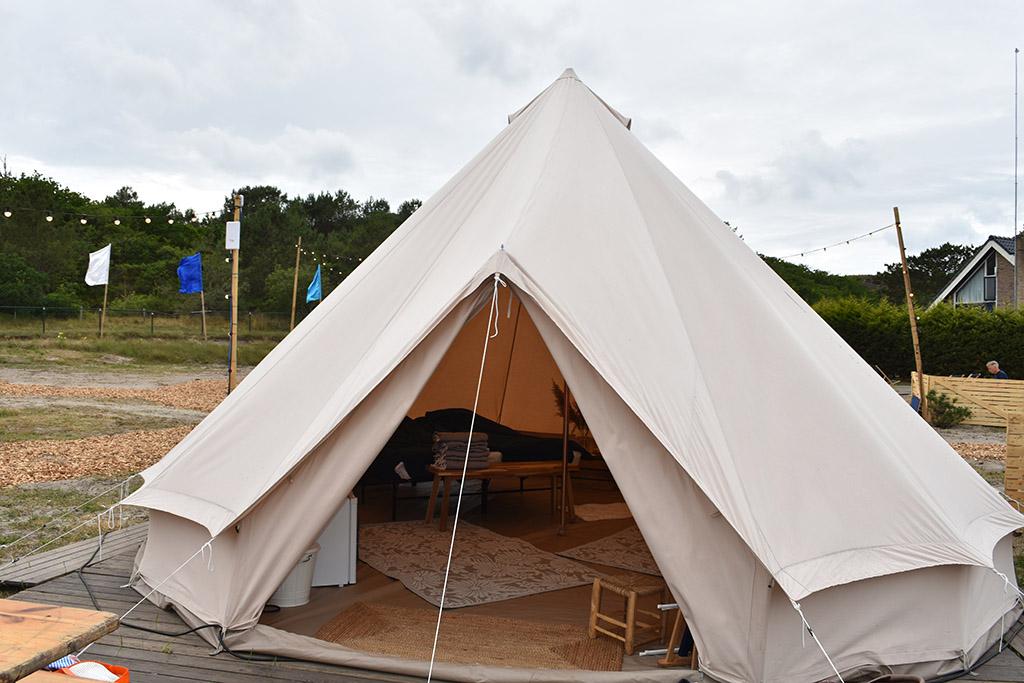 Onze Bell tent voor de eerste nacht