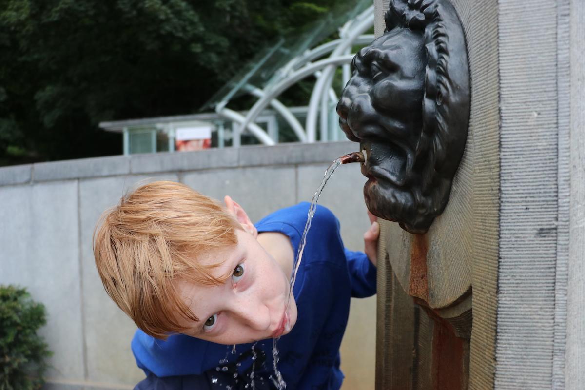 Als je in Spa bent, moet je het ijzerhoudende water proeven.