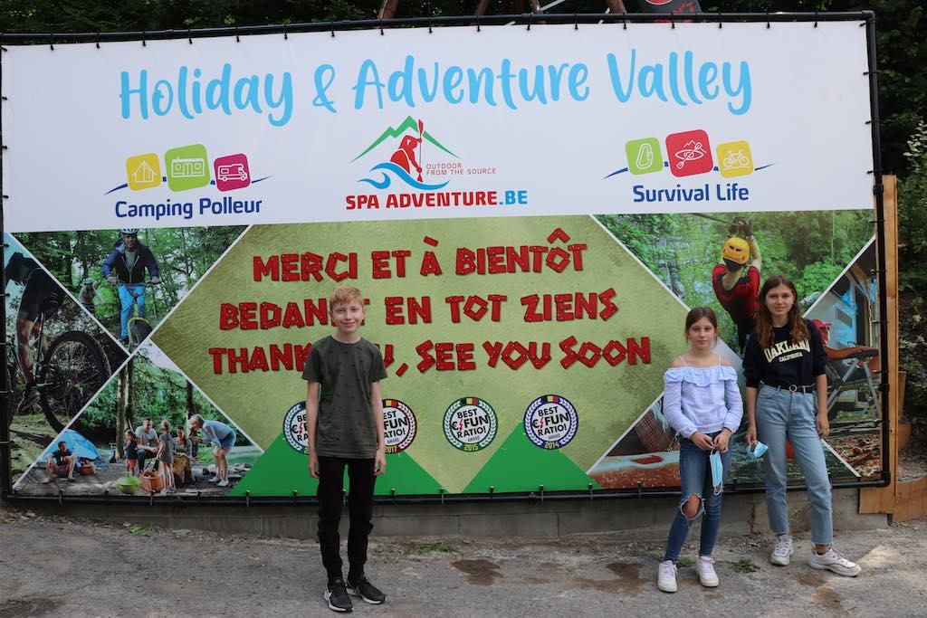 Spa Adventure; hier gaat ons Down Hill Steppen avontuur beginnen.
