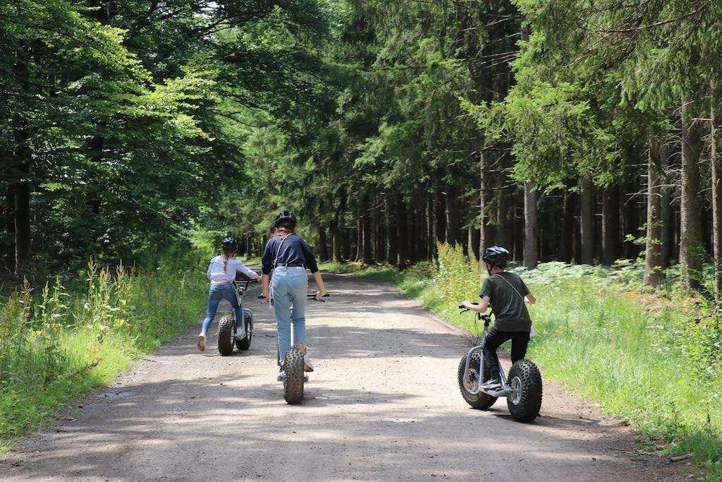 De route is eerst vrij vlak en het pad is breed. Mooi om te oefenen.