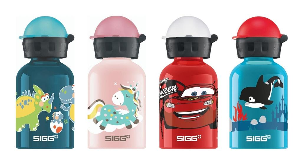 Deze drinkflessen voor kinderen zijn van aluminium en hebben een inhoud van 0,3 liter.