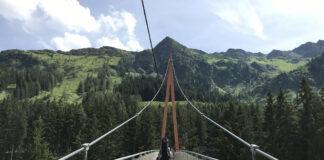 Bij de 'end of the valley' is ook de Golden Gate Bridge van de Alpen met de hoogste tree top wandeling van Europa.